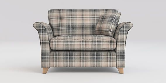 buy brompton snuggle seat 2 seats versatile check nevis grey low tapered light from the next. Black Bedroom Furniture Sets. Home Design Ideas