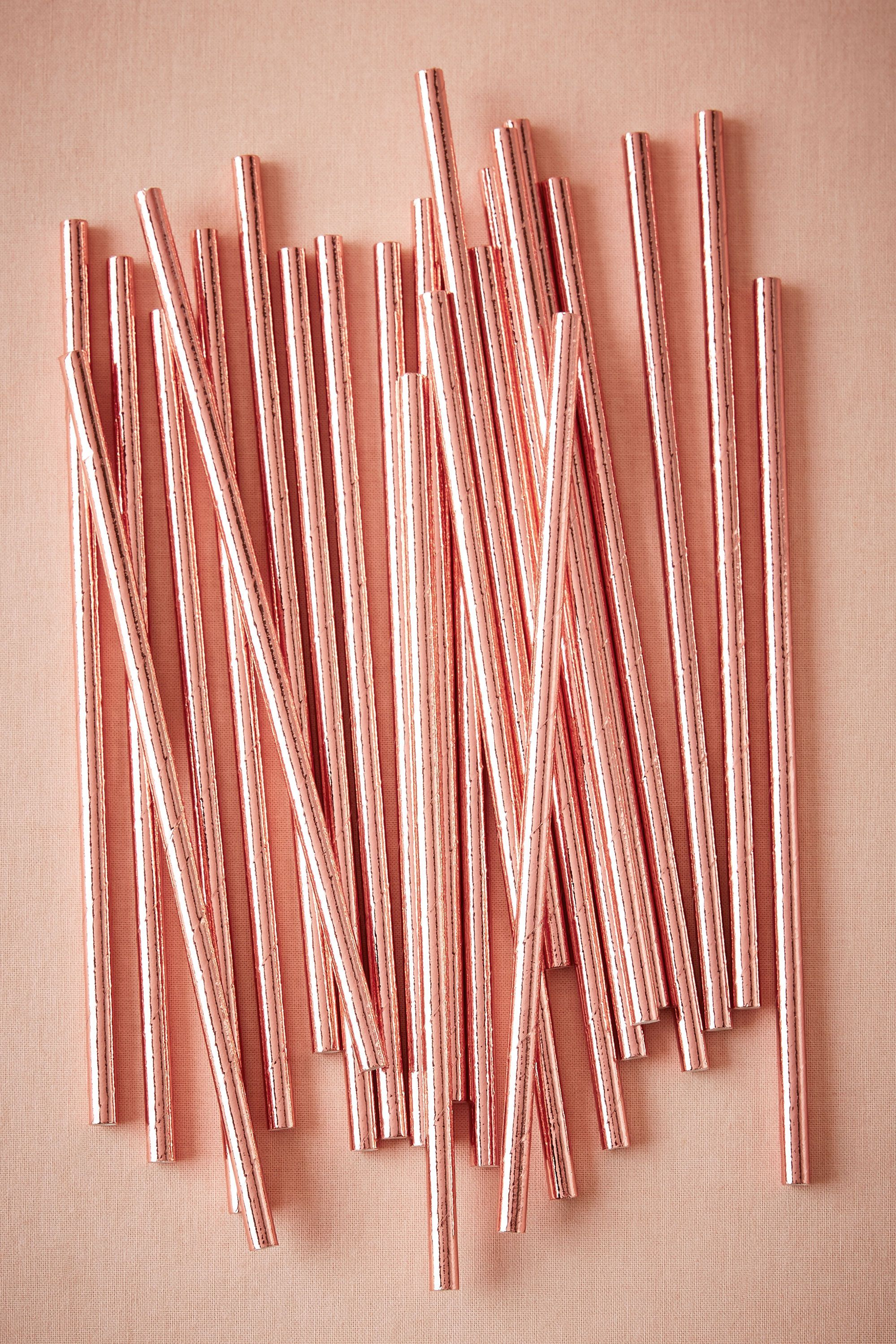 Rose Gold Straws From Bhldn With Images Rose Gold