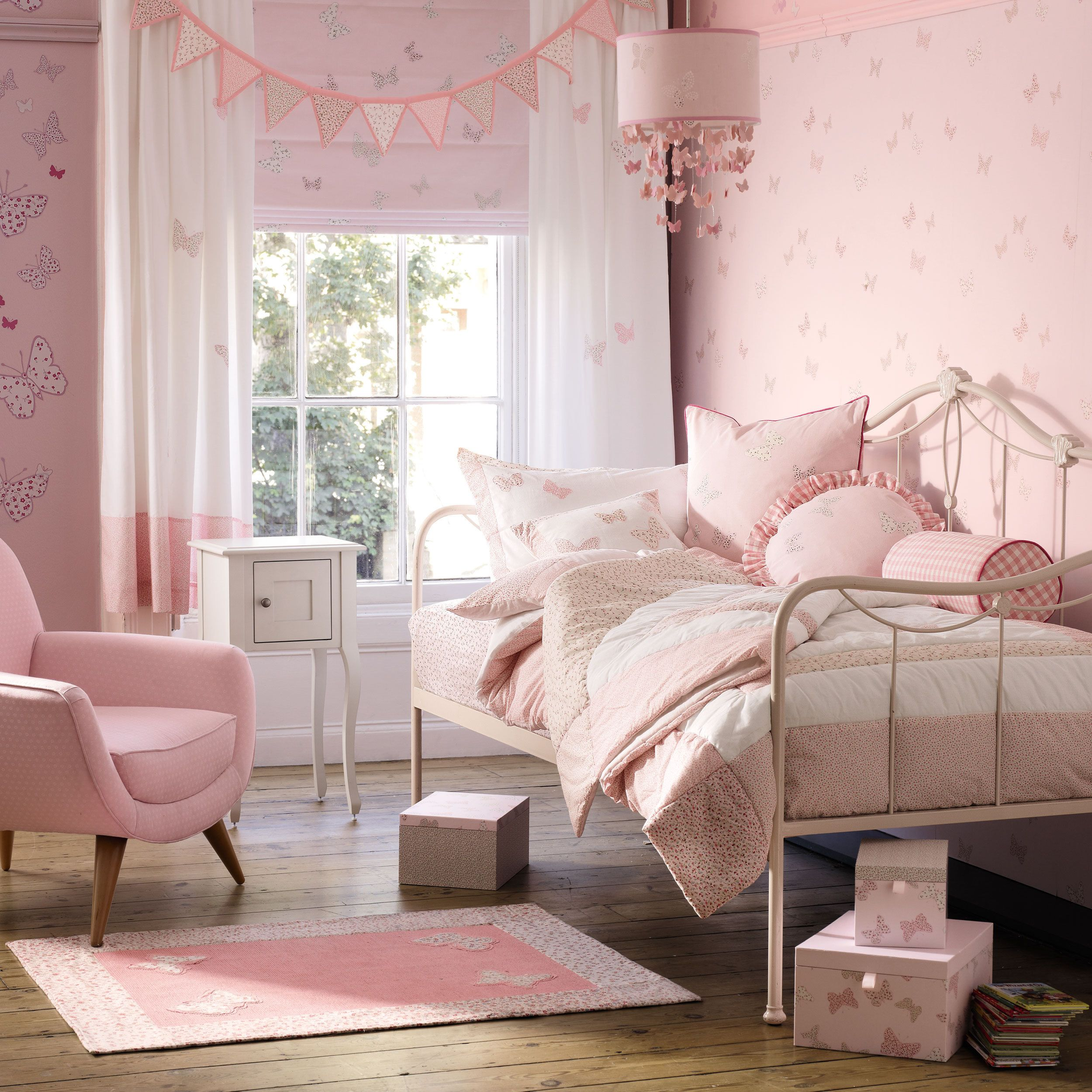 Bella Butterfly Pink Cotton Bedset