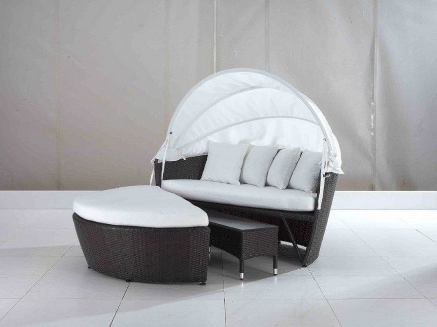 2017 All Weather Outdoor Daybed Rattan Furniture round bed - Daybed Images