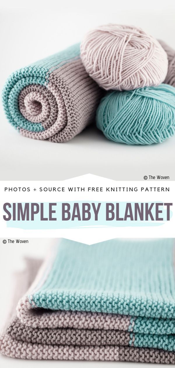 Lovely Knitted Baby Blankets Free Patterns #babyblanket