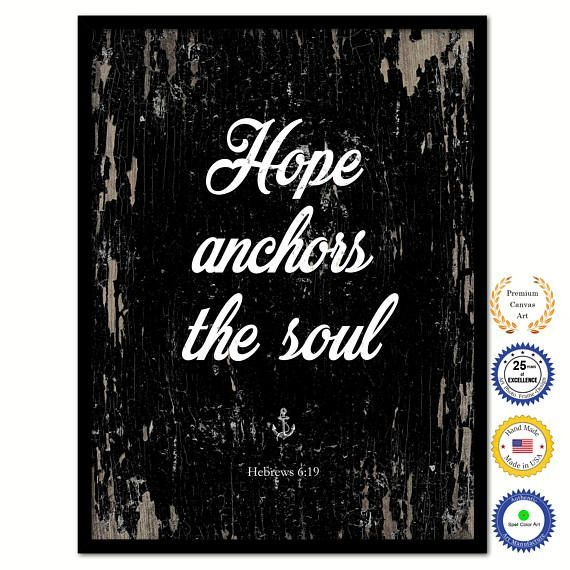 Hey, I Found This Really Awesome Etsy Listing At  Https://www.etsy.com/listing/555339893/hope Anchors The Soul Hebrews 619  Bible | Anchor Quotes | Pinterest ...