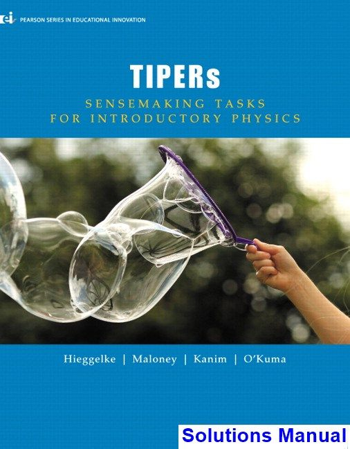 solutions manual for tipers sensemaking tasks for introductory
