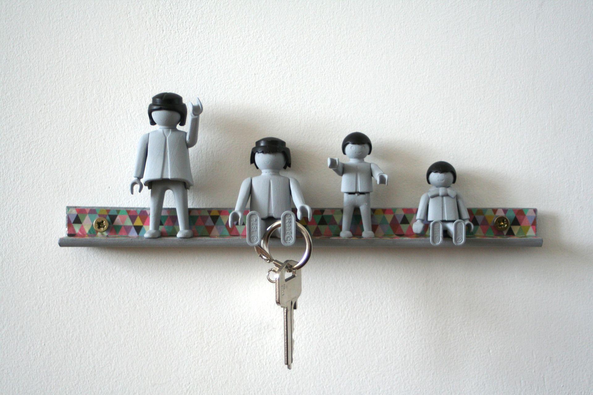 Accroche-clés figurines vintage pour décorer son entrée ! : Décorations murales par les ...