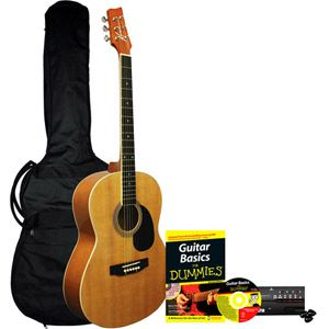 Learn To Play Kona Acoustic Guitar Starter Pack For Dummies Walmart Com Acoustic Guitar Kits Guitar Guitar Kits