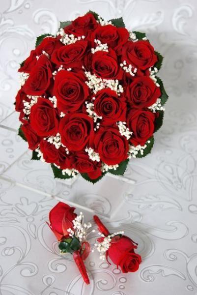 Resultado de imagen para ramos de novia rojos Ramos de Novia rojos