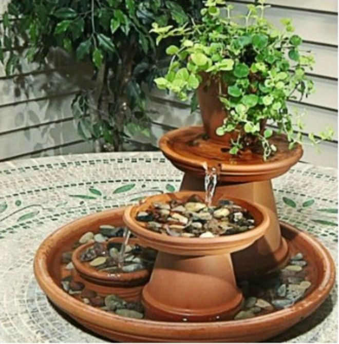 Simple Water Features For The Garden: You Will Love To Make Your Own Table Top Water Feature And