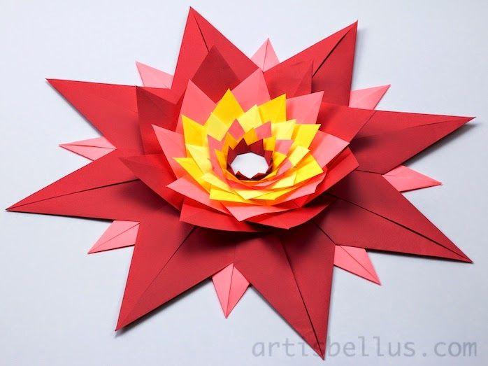 Origami Decorations: Stella Veneziana (Venetian Star)  Stella Veneziana (Venetian Star