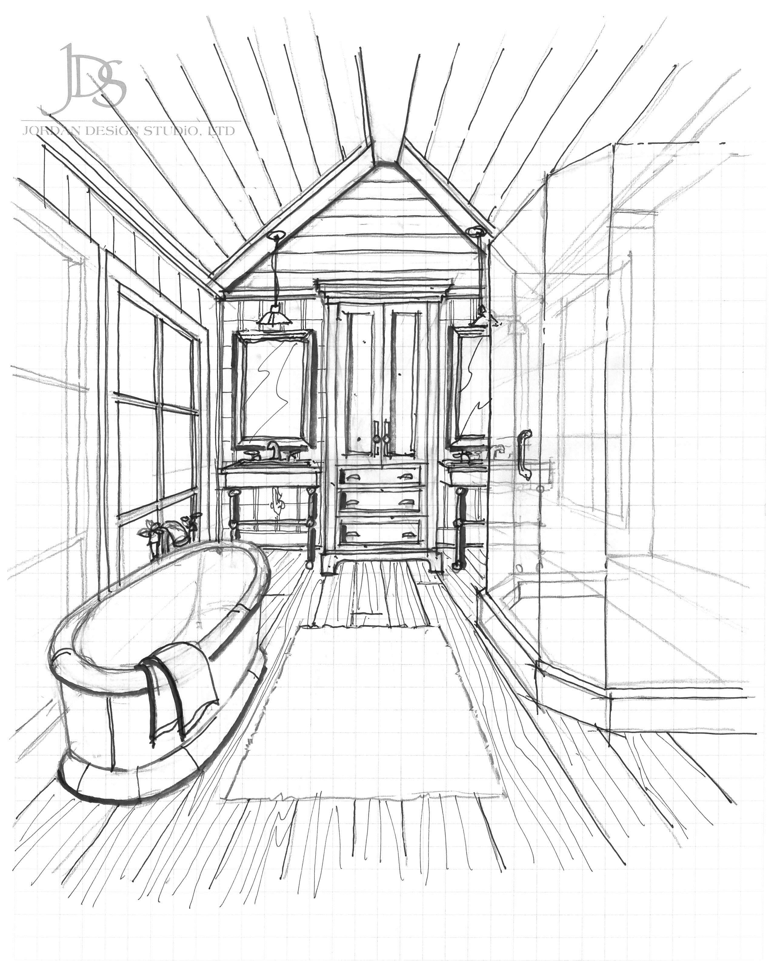 Bathroom Ideas, Bathroom Design, Interior Design Drawing ...