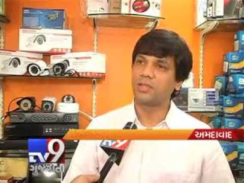 In Ahmedabad . The need for safety and security in almost every segment of life has fuelled the market with an overwhelming demand for closed circuit television.The swell in crime rates and the recent terror attacks have made sur­veillance imperative for government and private bodies, which is helpful for police to crack the case.  For more videos go to  http://www.youtube.com/gujarattv9  Like us on Facebook at https://www.facebook.com/gujarattv9