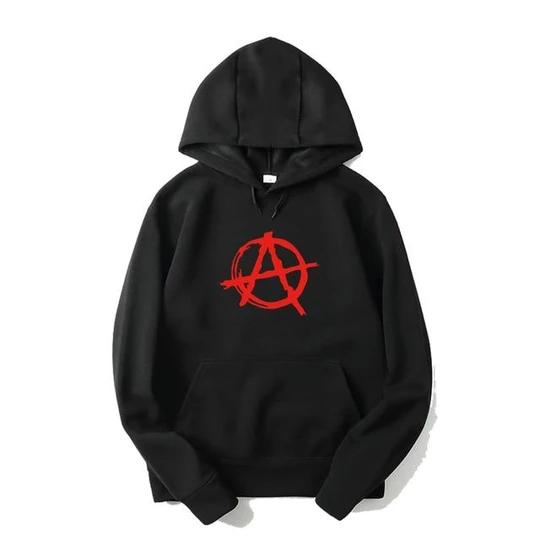 New Funny Printed Harajuku Hoodies Men Anarchy Symbol Sweatshirt Male Modlilj Hoodies Men Hoodies Sweatshirts