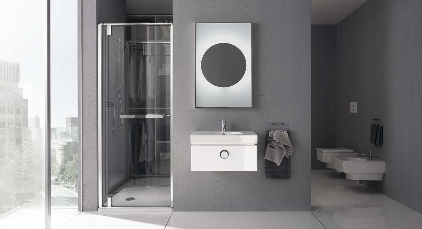 Hou je van geometrie in de badkamer? Typerend van het #Keramag Preciosa design zijn de rechthoekige en ronde vormen.