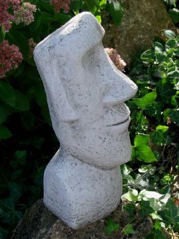 64 osterinselkopf aus massivem steinguss frostfest stein pinterest ytong skulptur und. Black Bedroom Furniture Sets. Home Design Ideas
