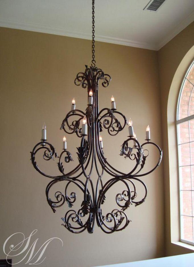 Wrought Iron Chandelier By Lighting San Marcos Decoracion En Hierro Lamparas Colgantes Rusticas Lamparas Colgantes