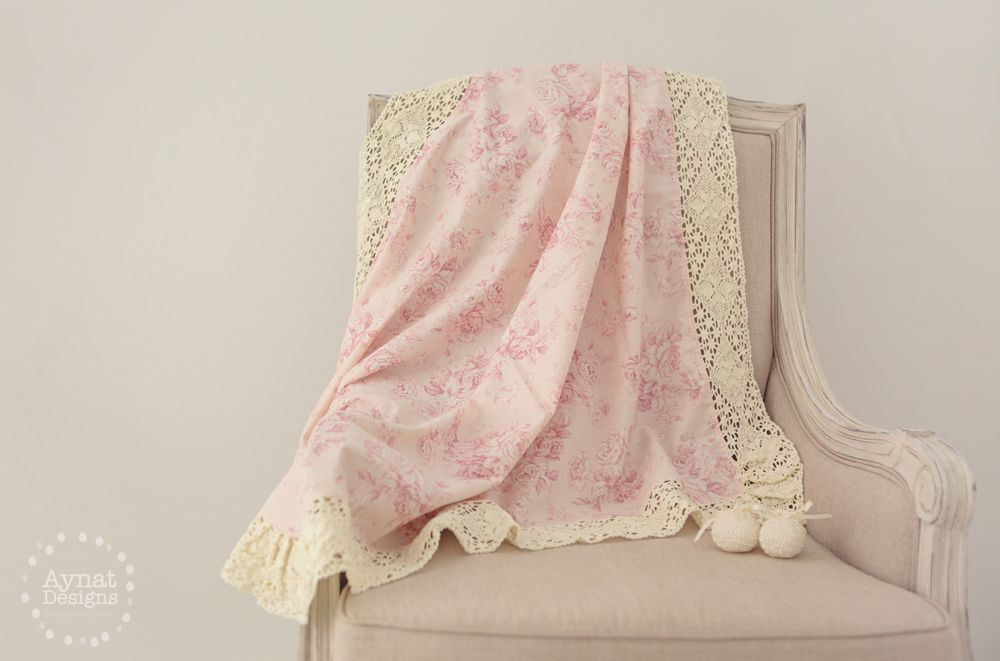 Otto Babyzimmer ~ Amelie baby wrap in blush. created from designer cottons edged with