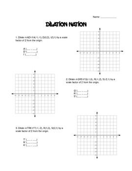 This is a worksheet on dilations.Moon Math | Transformations ...