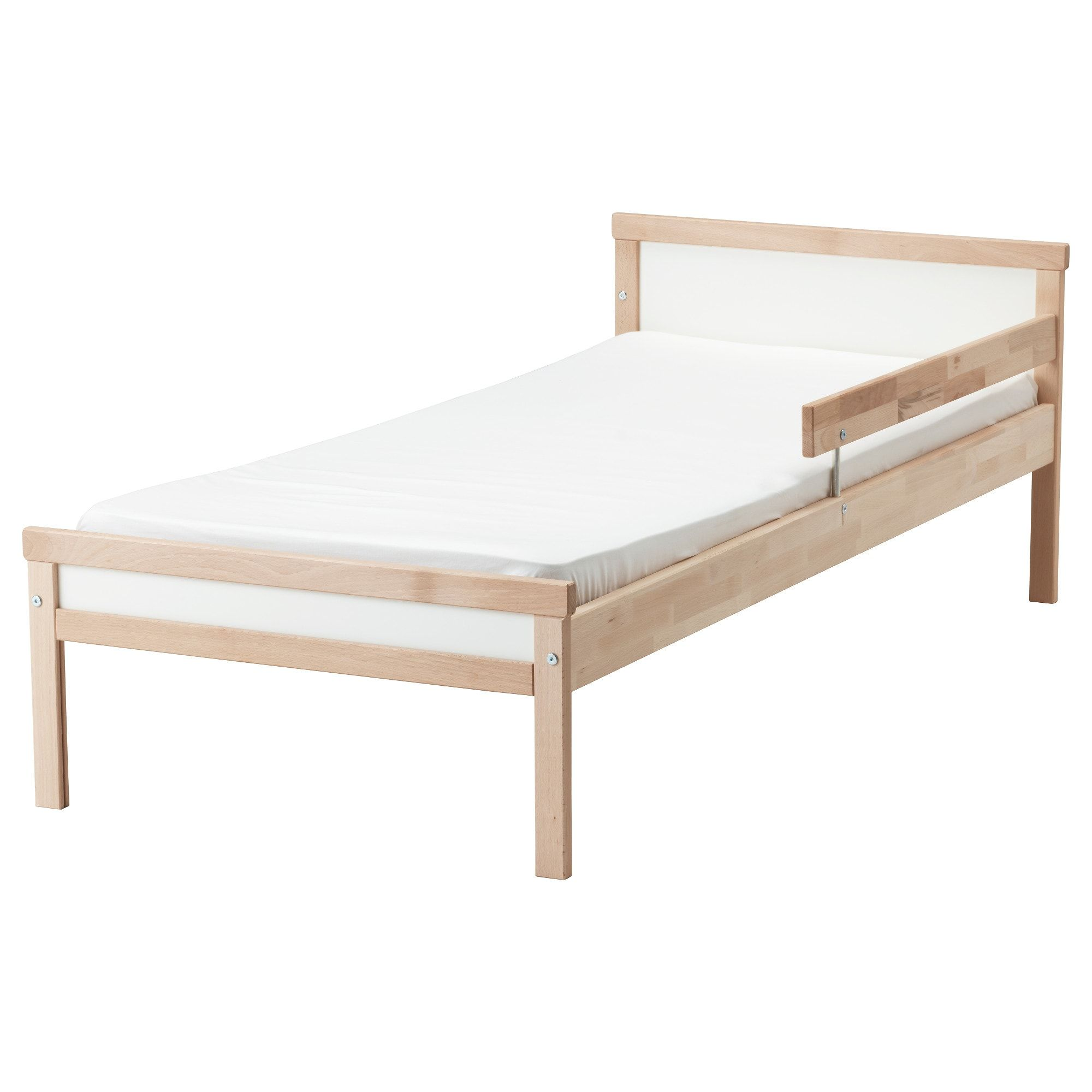Sniglar Bed Frame With Slatted Bed Base Beech Ikea Ikea Kids