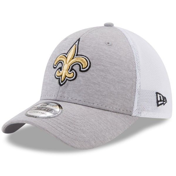 a74e1e782890f New+Orleans+Saints+Heathered+Gray+Tech+Sweep+39THIRTY+Flex+Fit+Hat+by+New+ Era