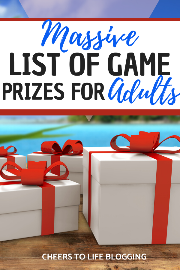 Massive List of Game Prize Ideas for Adults - Cheers to Life Blogging in 2020   Game prizes ...
