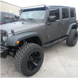 Anthracite Gray Plasti Dipped Jeep Left Front And Side View Jeep Jk Jeep Jeep Wrangler