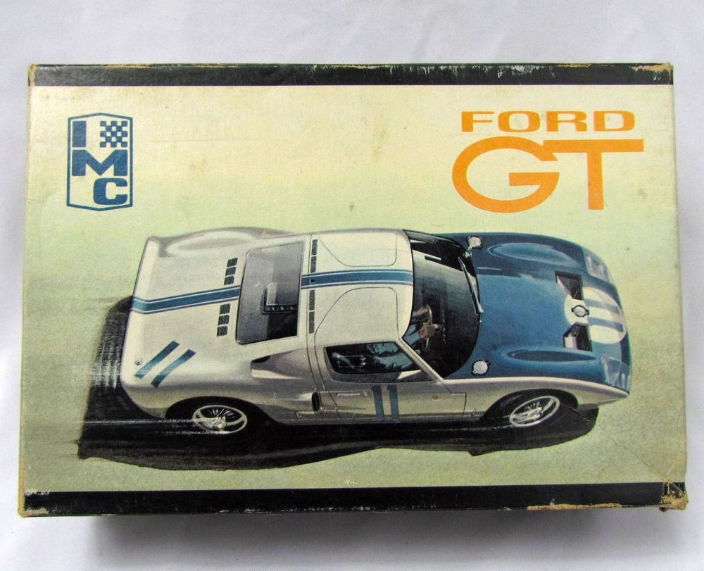 Vintage S Imc  Scale Ford Gt   Model Kit