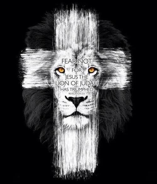 N o temas porque jesus o le o de jud triunfou faith for Cross tattoo on forehead meaning