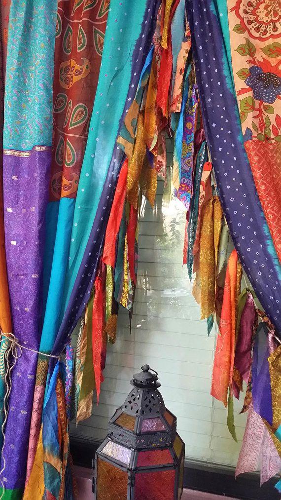 Bohemian Curtains Indian Summer Hippie Hippy Hippiewild