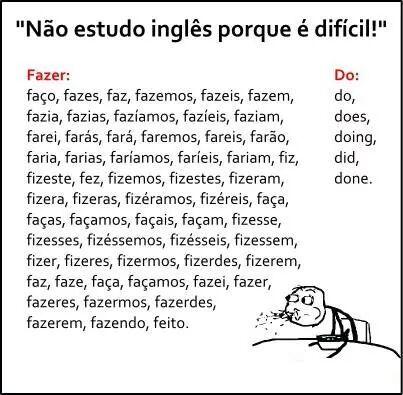 Estudar Ingles Nao E Tao Dificil Faca Algumas Comparacoes Tirinhas Em Ingles Memes Palavras Do Vocabulario