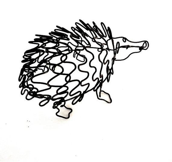 Reserved For Gina Hedgehog Wire Sculpture 175442563