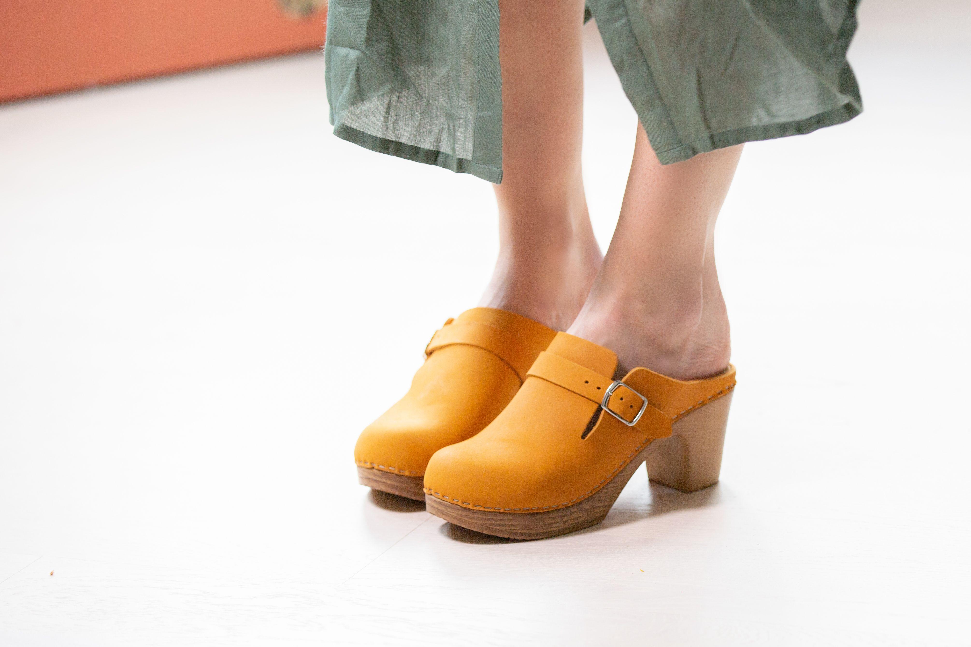Calou Bianca Mustard | Clogs, Clog sandals, Shoes