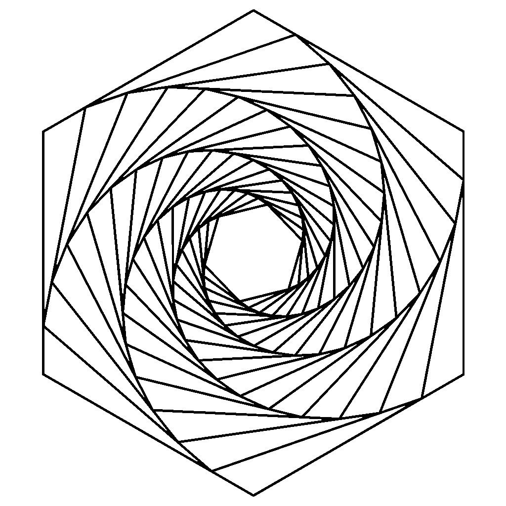 70+ Geometric Coloring Pages To Print And Customize   Geometric ...   1024x1024