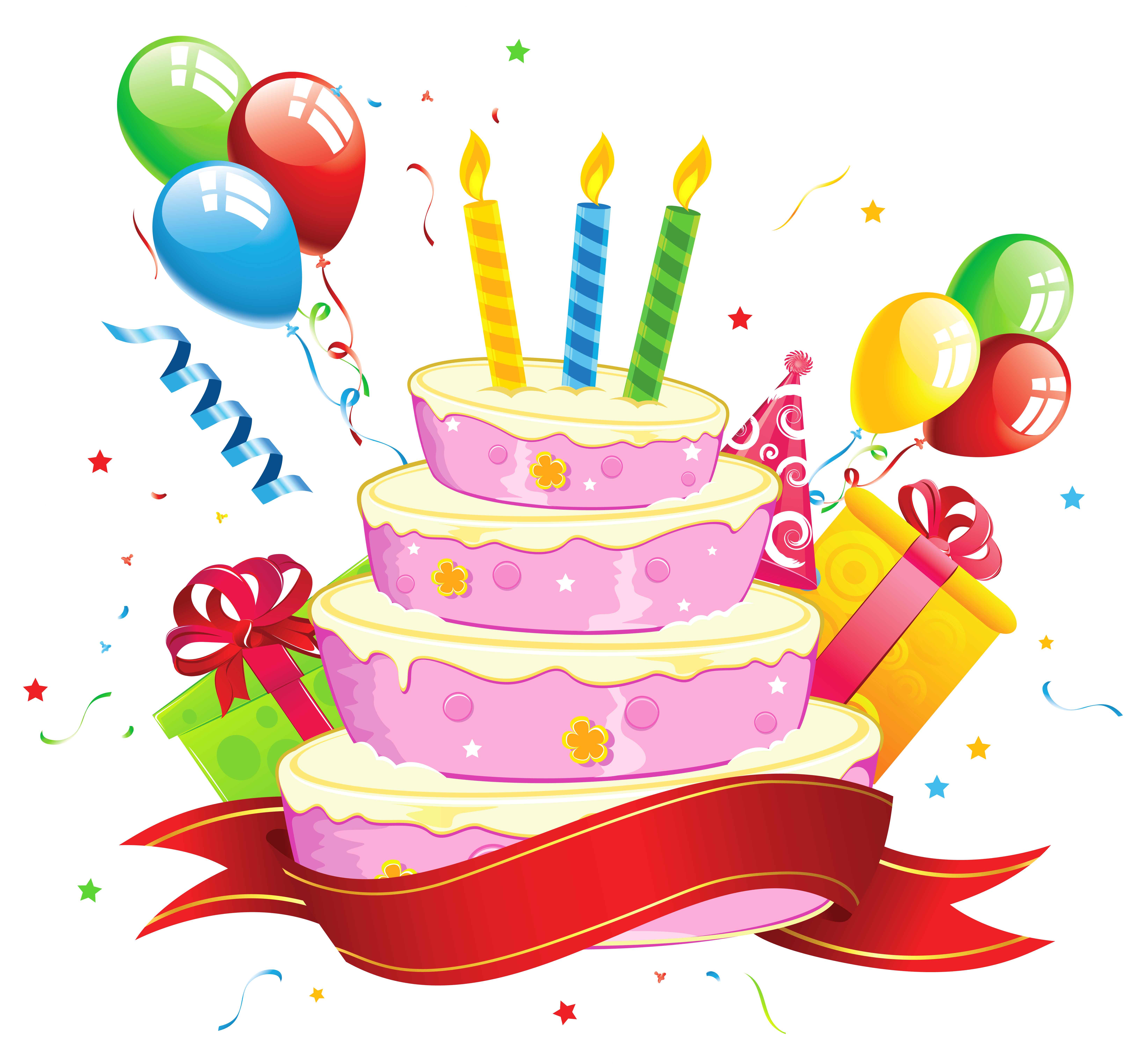 Birthday Cake Transparent Clipart Happy birthday cards