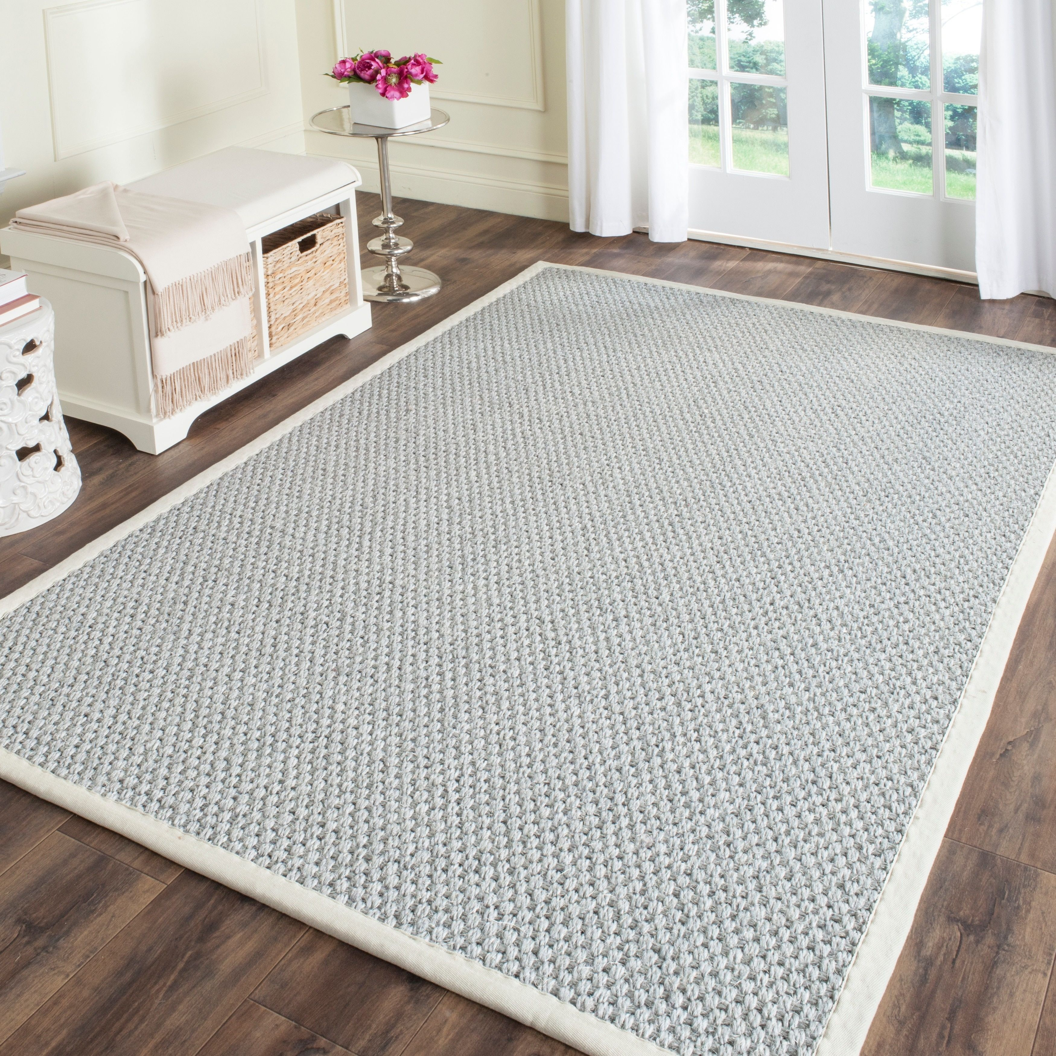 Safavieh Casual Natural Fiber Hand Woven Silver Grey Sisal Rug 8