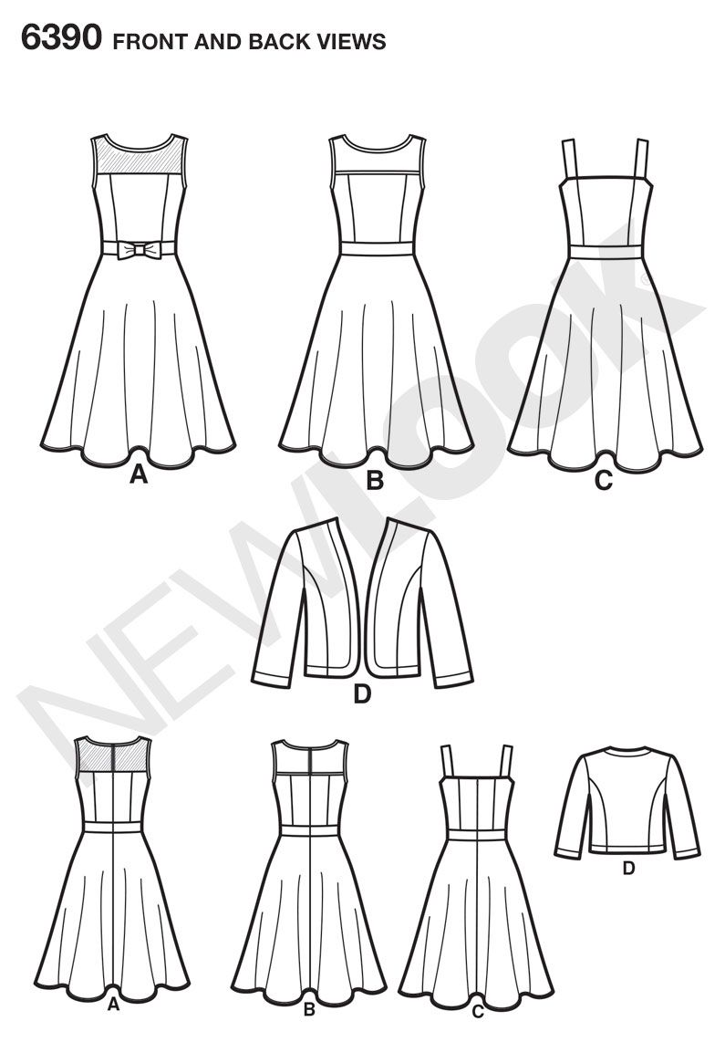 Simplicity Creative Group - Misses\' Dresses with Full Skirt and ...