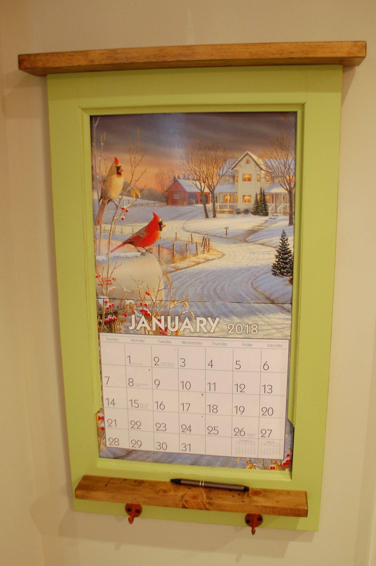 Calendar Holder Solid Northeastern White Pine Slightly Distressed