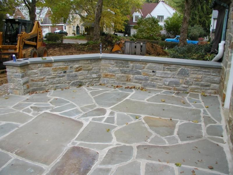 Love The Stones Mortar Vs Sand In Grout Joints Looks Very White Patio Flagstone Patio Backyard Patio