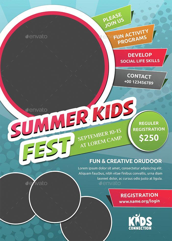 charmant Kids Summer Camp Flyer