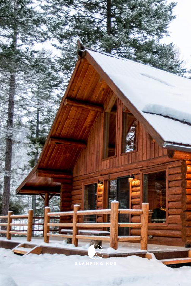 Luxury Camping at DogFriendly Log Cabin near Ski Slopes