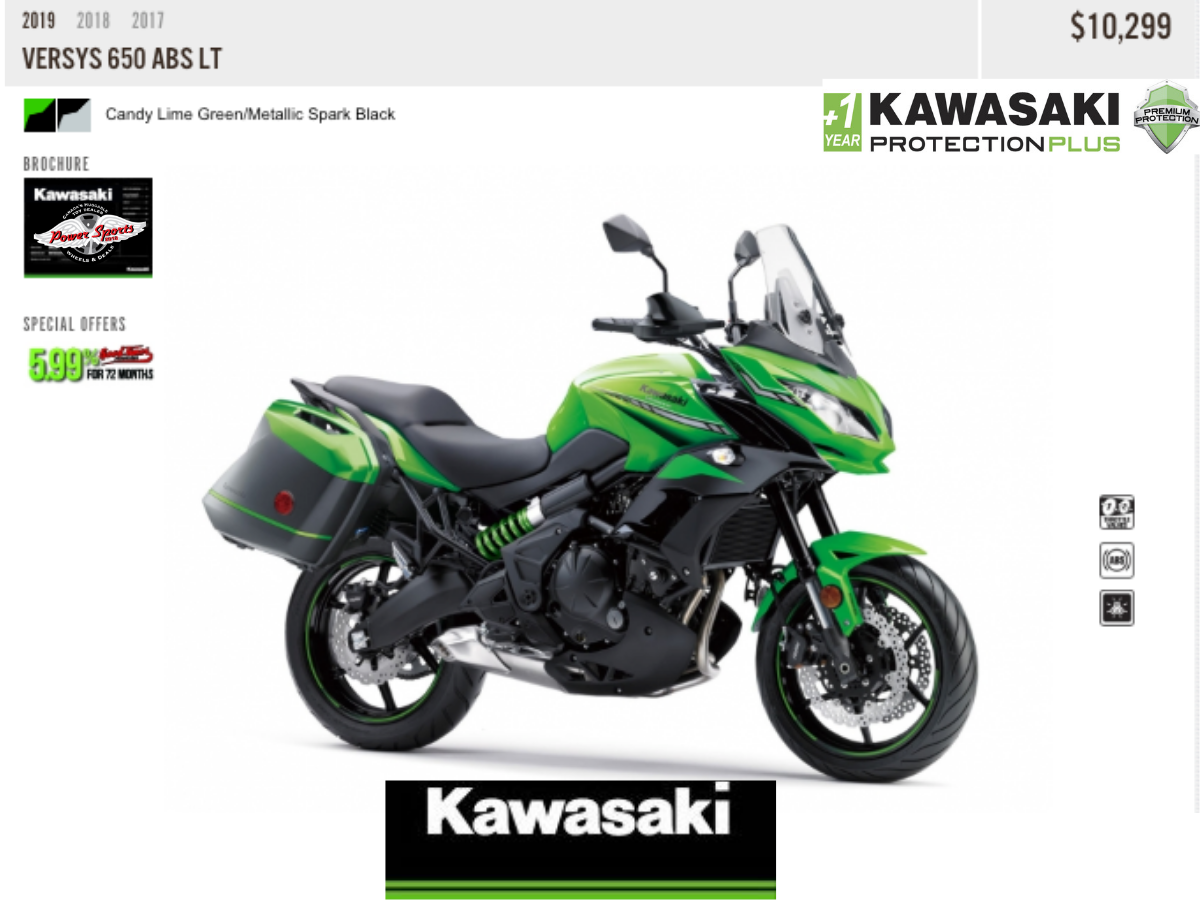 2019 Versys 650 Abs Lt Kawasaki You Will Love Your Extras