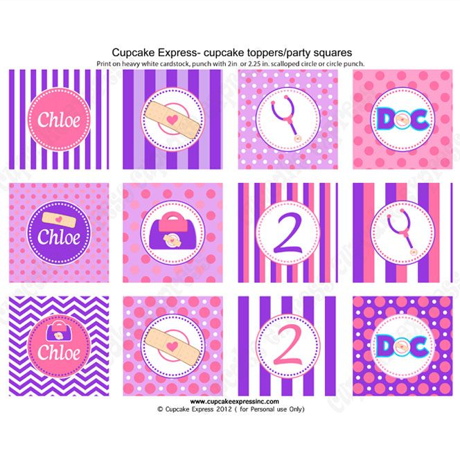 Doc mcstuffins inspired printable cupcake toppers doc mcstuffins doc mcstuffins inspired printable cupcake toppers solutioingenieria Gallery
