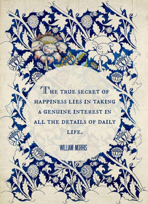 Interiors William Morris Quote Words William Morris