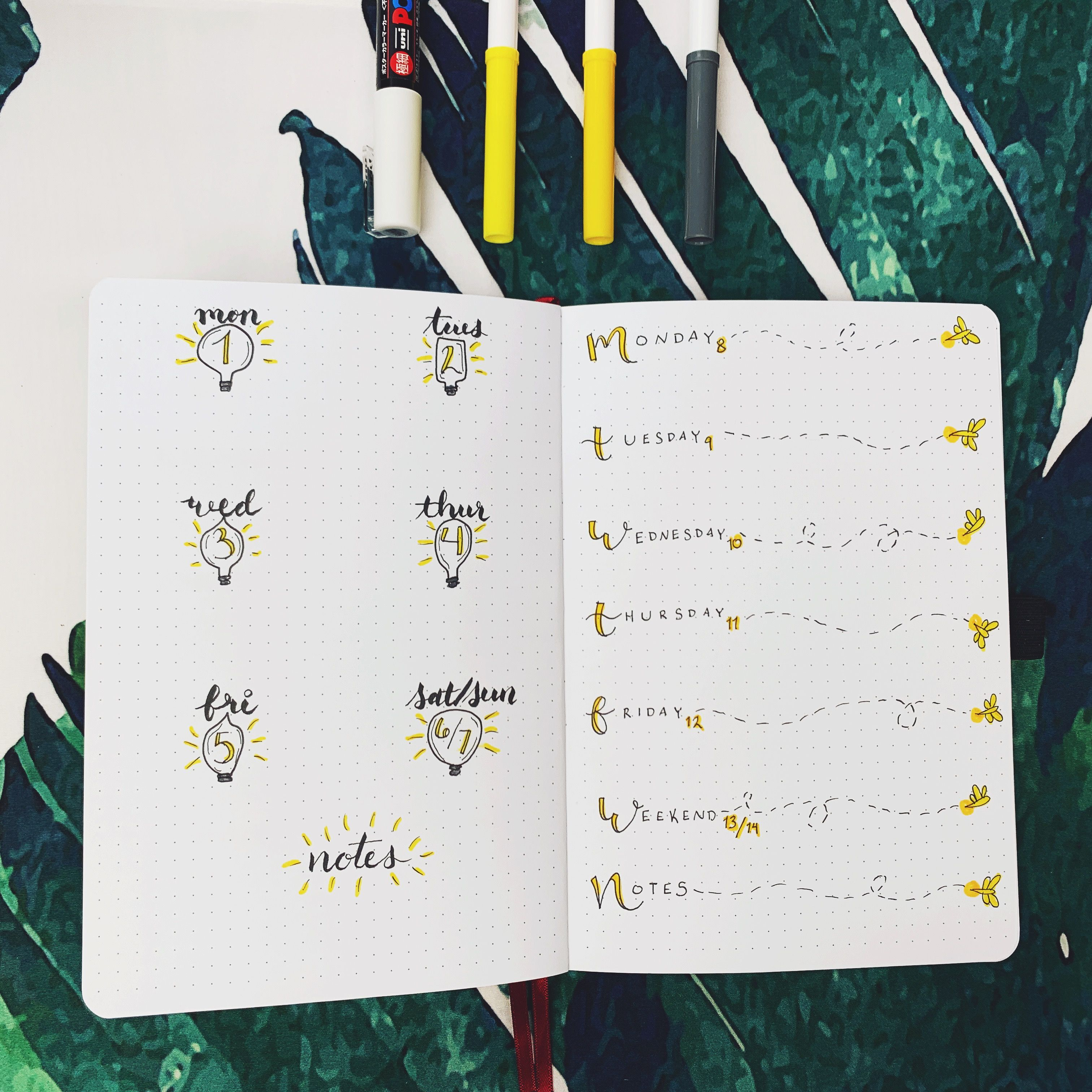 Plan With Me || JULY 2019 Bullet Journal Set Up || Light Bulb + Firefly Theme