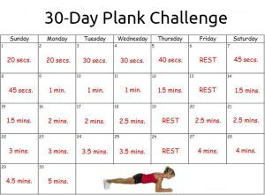 image regarding Plank Challenge Printable titled Ideal 30 Working day \u003cb\u003ePlank\u003c\/b\u003e Concern Printable Calendar