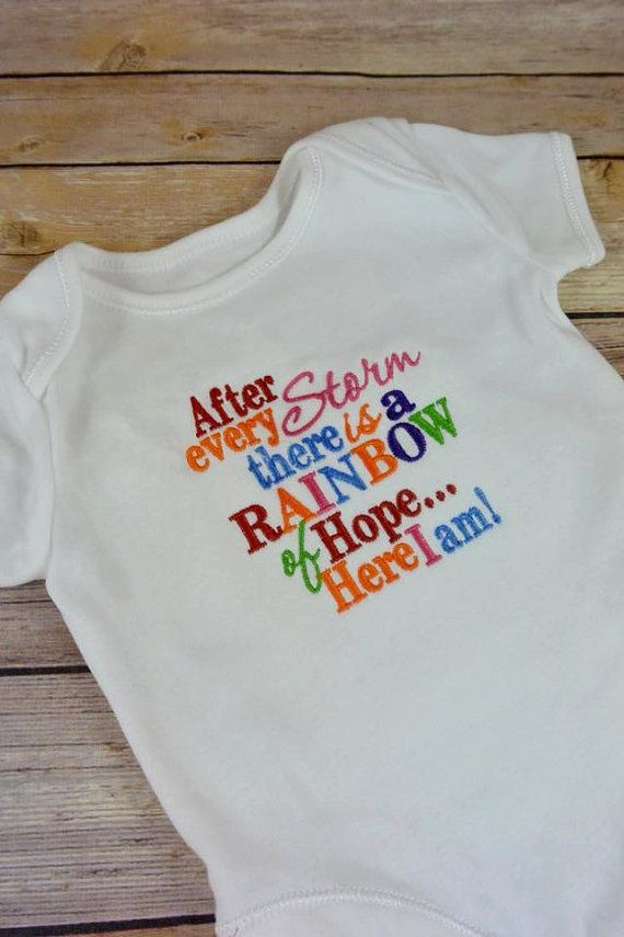 1st Birthday Rainbow Embroidered Baby T-Shirt Gift Personalised Unisex