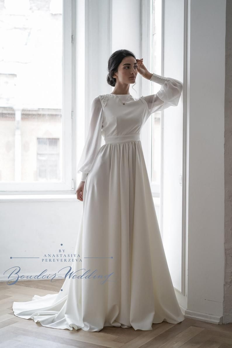 Pin by ladymur on Wedding ideas   Modest wedding dresses with ...