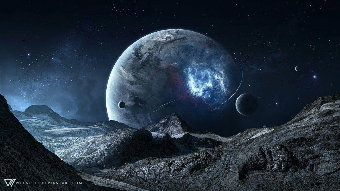 Scifi Planet Cool Pix Blue Space Planets Wallpaper Planets