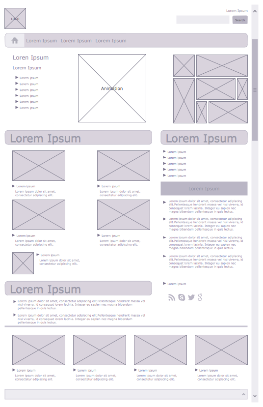 example 1  company website home  wireframe  this diagram