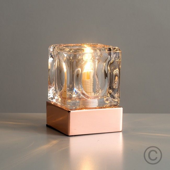 Modern ice cube style touch table lamp in copper copper modern ice cube style touch table lamp in copper mozeypictures Gallery