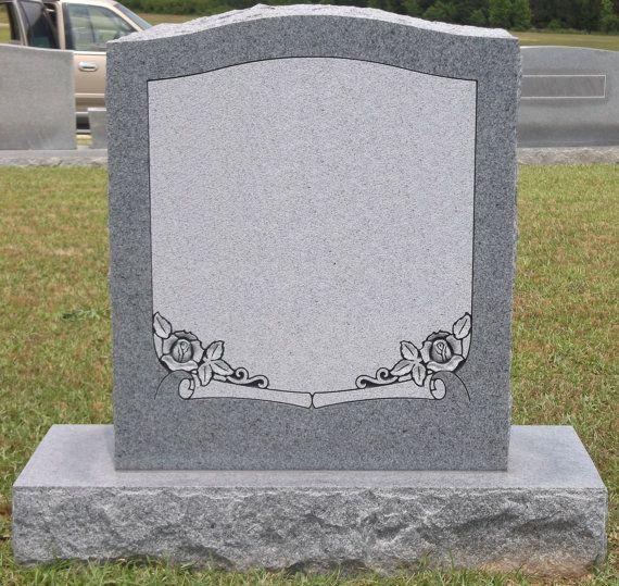MANY OPTIONS! Cemetery Headstone Georgia Gray Granite Praying Hands
