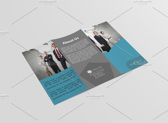 Corporativia Tri Fold Brochure By DuezaCom On Creativemarket